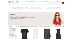 Topshop Homepage