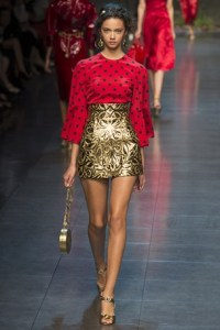 dolce and gabbana mfw 10
