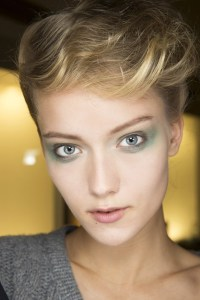 giorgio armani hair and make up mfw