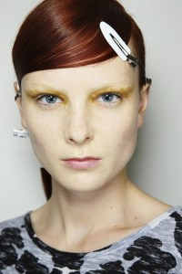 prada hair and make up mfw 2