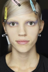prada hair and make up mfw