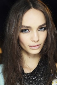 versace hair and make up mfw