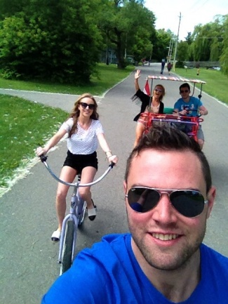Biking around Toronto Islands