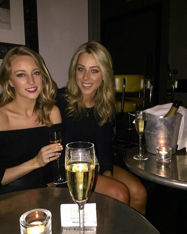 Champagne at Raffles
