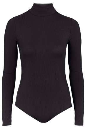 funnel neck body topshop black