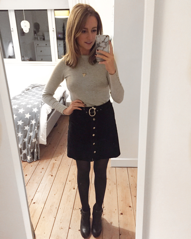 70s Suede Zara Skirt