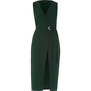 River Island Tie Dress Green