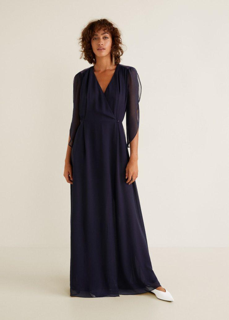 Mango Long Chiffon Gown
