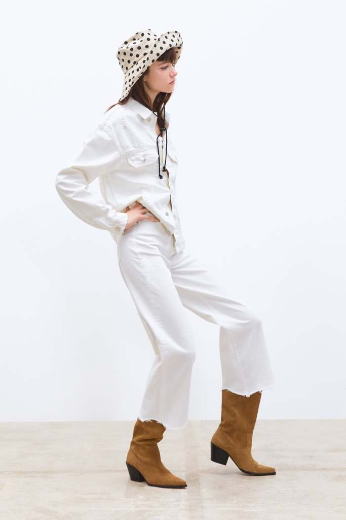 jeans culotte off white